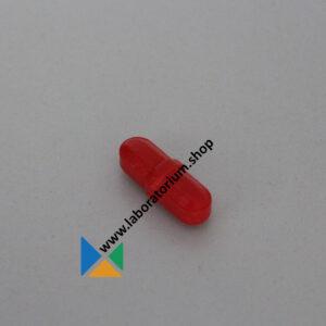 Magneetroerstaaf 25 mm rood, diam. 8 mm, achthoekig met centrale ring, PTFE