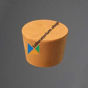 Rubber stop 12-16 mm zonder gat rood massief hoogte 20 mm -10 stuks
