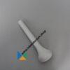 Stamper 45 mm porselein, lengte 180 mm, ongeglazuurd wrijfvlak